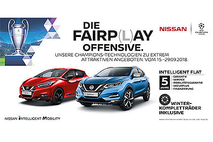 NISSAN MICRA in Rot Qashqai in Blau - Fariplay Offensive